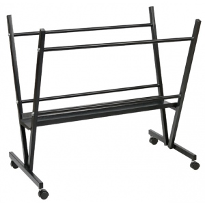 "Heritage Arts™ Steel Print Rack; Color: Black/Gray; Material: Steel; Size: 6""d x 19""w x 33""h; Type: Display; (model MPR10), price per each"