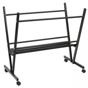 """Heritage Arts™ Steel Print Rack: Black/Gray, Steel, 6""""d x 19""""w x 33""""h, Display, (model MPR10), price per each"""