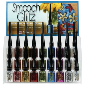 Smooch™ Glitz Glitter Finishing Coat Display Assortment; Color: Multi; Format: Bottle; Ink Type: Glitter; Size: 9 ml; (model CS92526D), price per each