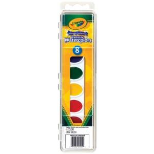 Crayola® Washable Watercolors 8-Color Set: Multi, Pan, Watercolor, (model 53-0525), price per set