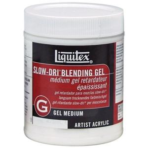 Liquitex® Slow-Dri® Blending Gel Medium 16oz; Size: 16 oz; Type: Acrylic Painting, Gel; (model 7216), price per each