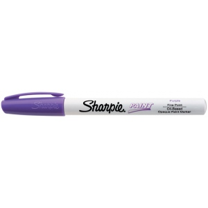 Sharpie® Oil Paint Marker Fine Purple; Color: Purple; Ink Type: Paint; Tip Type: Fine Nib; (model SN35541), price per each