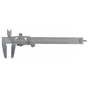 "General® Metric and English Vernier Caliper; Color: Metallic; Material: Steel; Size: 5""; Type: Caliper; (model V722), price per each"