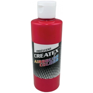 Createx™ Airbrush Paint 2oz Iridescent Red; Color: Red/Pink; Format: Bottle; Size: 2 oz; Type: Airbrush; (model 5501-02), price per each