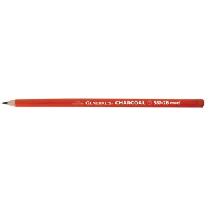 General's® Charcoal Pencil 2B: Black/Gray, 2B, Pencil, (model 557G-2B), price per dozen (12-pack)