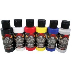Wicked Color Airbrush Paint: 6-Color Set, Primary
