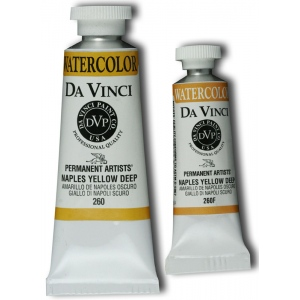 Da Vinci Artists' Watercolor Paint 15ml Naples Yellow Deep: Yellow, Tube, 15 ml, Watercolor, (model DAV260F), price per tube