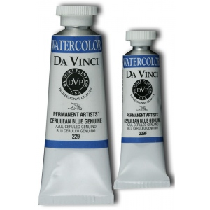 Da Vinci Artists' Watercolor Paint 15ml Cerulean Blue: Blue, Tube, 15 ml, Watercolor, (model DAV229F), price per tube