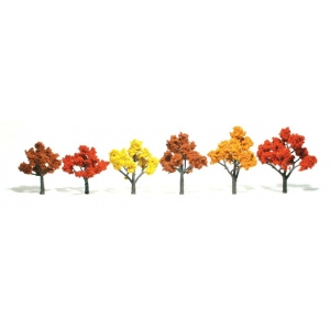 "Woodland Scenics® 3""-5"" Ready Made Tree Value Pack Fall Colors; Quantity: 14-Pack; Size: 3"" - 5""; Type: Tree; (model WSTR1577), price per each"