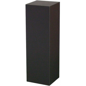 "Black Laminate Pedestal: 15"" x 15"" Base, 12"" Height"