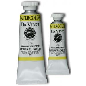 Da Vinci Artists' Watercolor Paint 15ml Cadmium Yellow Light: Yellow, Tube, 15 ml, Watercolor, (model DAV217F), price per tube