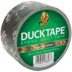 Duck Tape® Digital Camo Tape (Roll): Multi, Roll, 10 yd, Pattern, (model DT1388825), price per each