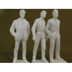 "Wee Scapes™ Architectural Model Human Figures - 1/2"" Male 3-Pack; Color: White/Ivory; Quantity: 3-Pack; Size: 1/2""; Type: People; (model WS00371), price per 3-Pack"
