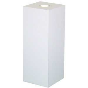 "Xylem White Laminate Spot Lighted Pedestal: Size 18"" x 18"", Height 12"""