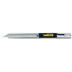Olfa® Stainless Steel Slide Lock Knife: Snap Blade, Knife, (model OL-SAC-1), price per each