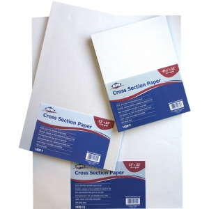 """Alvin® Cross Section Paper 4x4 Grid 100-Sheet Pack 11"""" x 17""""; Format: Pad; Grid Size/Pattern: 4"""" x 4""""; Quantity: 100 Sheets; Size: 11"""" x 17""""; Type: Drawing; Weight: 20 lb; (model 1420-7), price per 100 Sheets"""