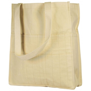 "Heritage Arts™ ; Color: White/Ivory; Material: Canvas; Size: 5""d x 12""w x 13 1/2""h; Type: Tote Bag; (model HC2731), price per each"