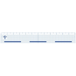 "Alvin® 12"" Cutting Edge Ruler: Clear, Plastic, 12"", Ruler"