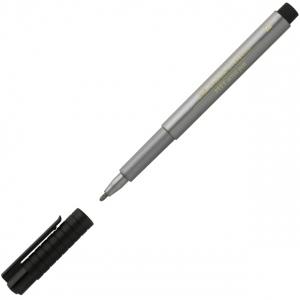 Faber-Castell PITT Artist Pen: Silver with Bullet-Nib