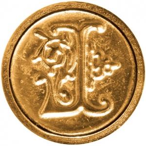 """Manuscript Initial Ceramic Mini Seal L: Round, 3/4"""", (model MSH725L), price per each"""