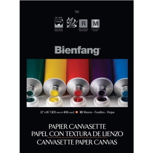"Bienfang® 12 x 16 Paper Canvasette Pad: Pad, 10 Sheets, 12"" x 16"", (model R270134), price per 10 Sheets pad"