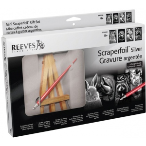 Reeves™ Mini Scraperfoil™ Silver Foil Gift Set: Multi, (model PPSFMGIFT), price per set