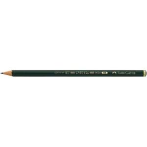 Faber-Castell® 9000 Black Lead Pencil 2B; Color: Black/Gray; Degree: 2B; (model FC119002), price per dozen (12-pack)