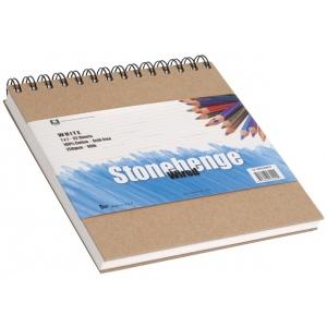 "Stonehenge® Versatile Artist Journal White 9"" x 12"": Wire Bound, White/Ivory, Pad, 9"" x 12"", (model L21-SPR250WH912), price per each"