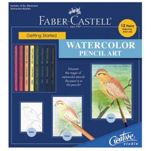 Faber-Castell® Creative Studio Getting Started Watercolor Pencil Art Set; Color: Multi; Format: Book; Type: Watercolor; (model FC800094), price per set