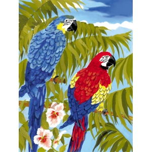 "Royal & Langnickel® Painting by Numbers™ 8 3/4 x 11 3/8 Junior Small Set Parrots; Board Size: 8 3/4"" x 11 3/8""; (model PJS35), price per set"