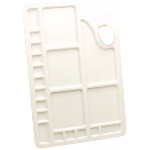 Reeves™ Large Rectangular Plastic Palette: Plastic, Rectangle, Large, (model 4870002), price per each