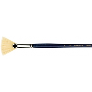 Princeton™ Good Natural Chinese Bristle Oil and Acrylic Brush Fan 3; Grade: Good; Length: Long Handle; Material: Bristle, Natural; Shape: Fan; Type: Acrylic, Oil; (model 5200FN-3), price per each