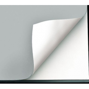 "Alvin® VYCO Gray/White Board Cover 43 1/2"" x 84"" Sheet; Color: Black/Gray, White/Ivory; Format: Sheet; Material: Vinyl; Size: 43 1/2"" x 84""; (model VBC77-14), price per each"