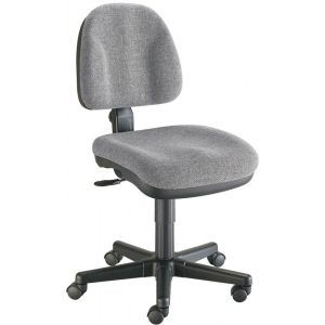 "Alvin® Medium Gray Premo Office Height Ergonomic Chair; Arm Rest Included: No; Color: Black/Gray; Foot Ring Included: No; Height Range: Under 24""; Seat Material: Fabric; (model CH444-60), price per each"
