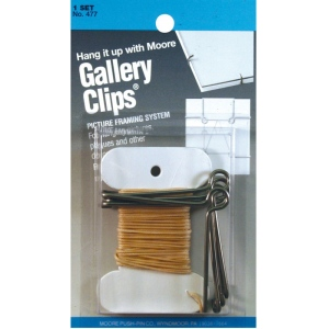 Moore Gallery Clips® Framing System; Color: Metallic; (model M477), price per set