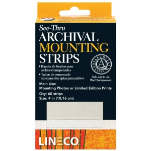 Lineco® Archival Mylar See-through Mounting Strips; Color: Clear; Shape: Strip; (model L5334015), price per each