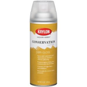 Krylon® Gallery Series™ Conservation Varnish Spray Gloss; Finish: Gloss; Size: 11 oz; (model K1371), price per each