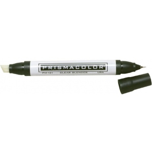 Prismacolor® Clear Blender Marker: Colorless, Double-Ended, Extra Broad Nib, Fine Nib, (model PM121), price per each
