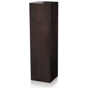 "Xylem Ebony Walnut Wood Veneer Pedestal: 18"" x 18"" Size, 24"" Height"