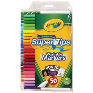 Crayola® Super Tips Washable Marker 50-Color Set; Color: Multi; Type: Washable; (model 58-5050), price per set