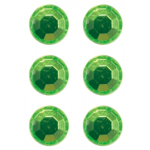 Mishu Mighty Magnets Lime Bling: Green, Circle, (model M884M6), price per pack