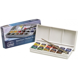 Winsor & Newton™ Cotman™ Watercolor Paint Sketchers' Pocket Box Set: Multi, Pan, Watercolor, (model 0390640), price per set