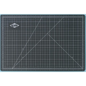 "Alvin® GBM Series 18"" x 36"" Green/Black Professional Self-Healing Cutting Mat; Color: Black/Gray, Green; Grid: Yes; Material: Vinyl; Size: 18"" x 36""; Thickness: 3mm; Type: Cutting Mat; (model GBM1836), price per each"
