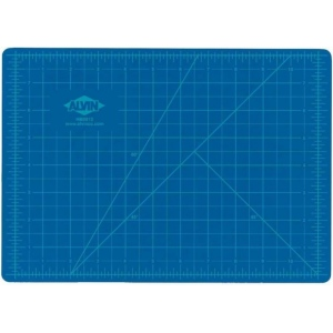 "Alvin® HM Series Blue/Gray Self-Healing Hobby Mat 24 x 36; Color: Black/Gray, Blue; Grid: Yes; Material: Vinyl; Size: 24"" x 36""; Thickness: 2mm; Type: Cutting Mat; (model HM2436), price per each"