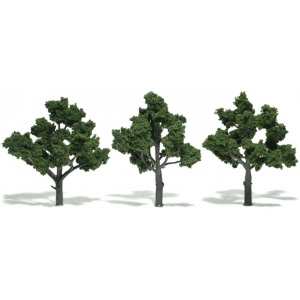 "Woodland Scenics® 3""-5"" Ready Made Tree Value Pack Green Deciduous: 14-Pack, 3"" - 5"", Tree, (model WSTR1572), price per each"