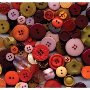 "Buttons Galore & More Button Bonanza Grab Bag Vintage; Color: Multi; Material: Plastic; Shape: Round; Size: 3/8"" - 1""; (model BB12), price per each"