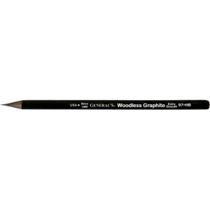 All-Art® Woodless HB Graphite Pencil; Color: Black/Gray; Degree: HB; (model 97-HB), price per dozen (12-pack)
