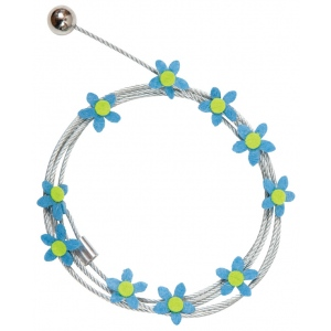 "Mishu Mighty Magnet Photo Cable Blue Flowers: Blue, 57"", Flower, Cable, (model M085), price per each"