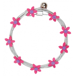 """Mishu Mighty Magnet Photo Cable Pink Flowers; Color: Red/Pink; Length: 57""""; Shape: Flower; Type: Cable; (model M083), price per each"""