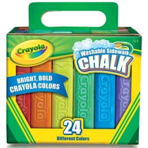 Crayola® Sidewalk Chalk 24-Color Set: Multi, Stick, (model 51-2024), price per set